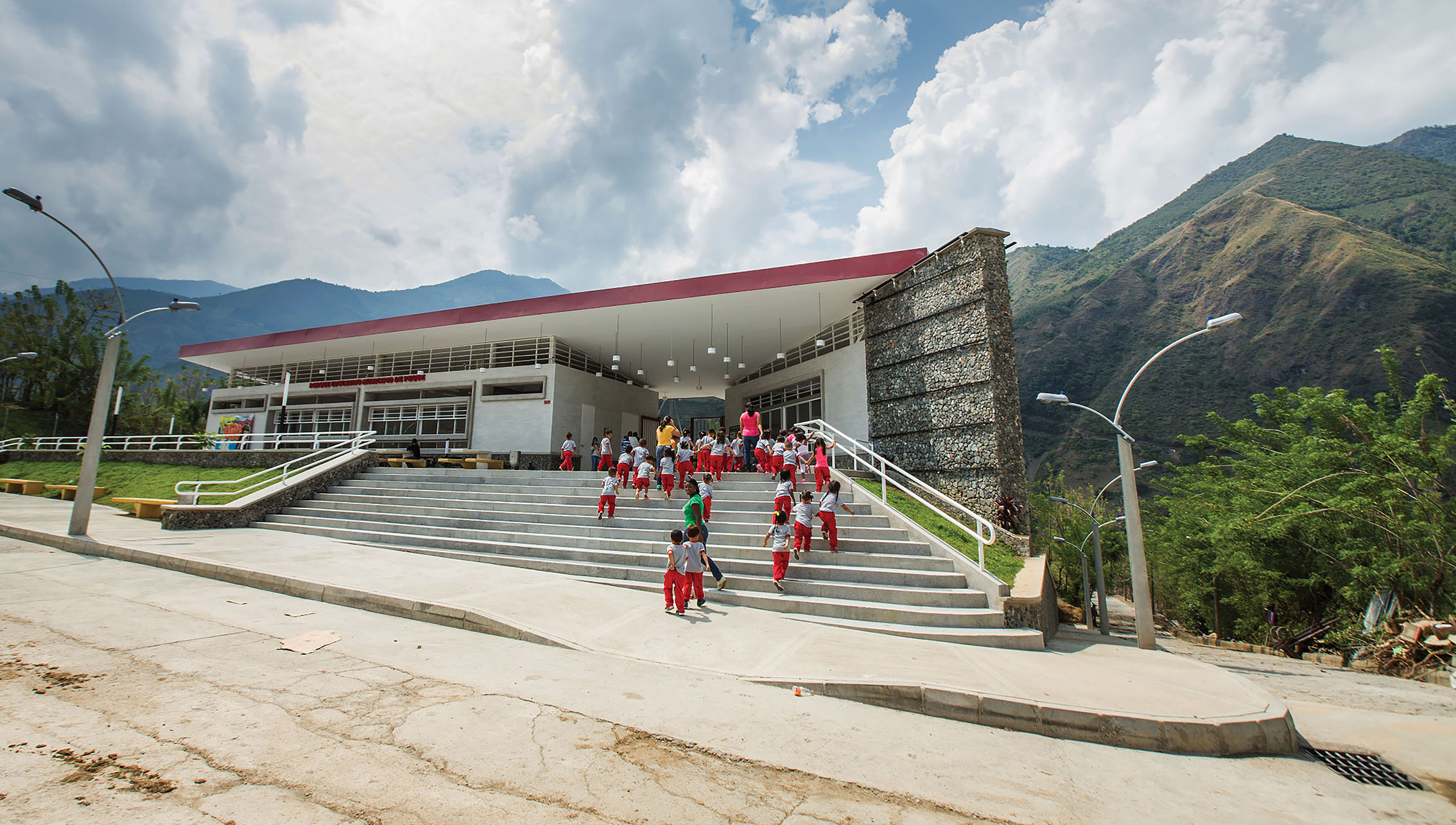 A new school in Peque, Antioquia, built by Governor Sergio Fajardo (2012–2016).  (Photo courtesy of Sergio Fajardo.)