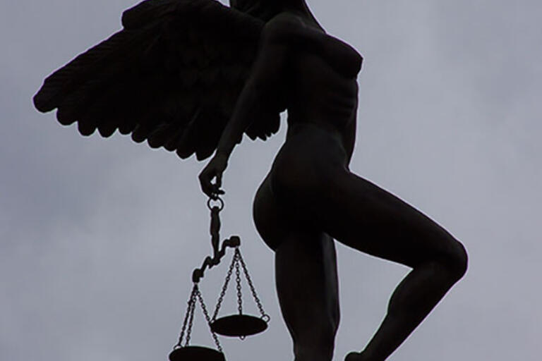 A statue of Justice in Veracruz, Mexico