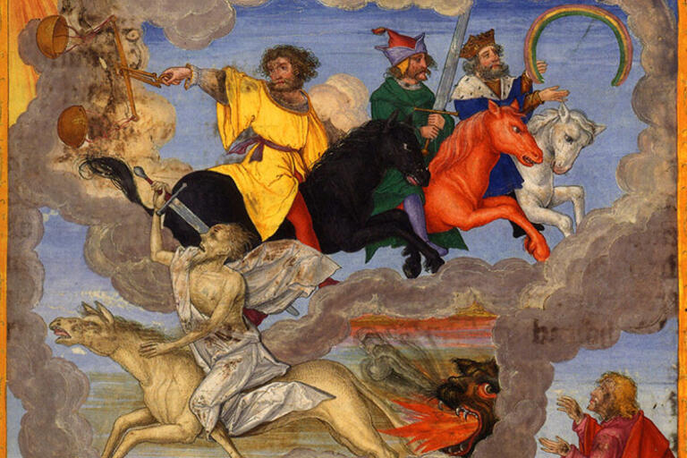 The Four Horsemen of the Apocalypse, from the Ottheinrich Bible