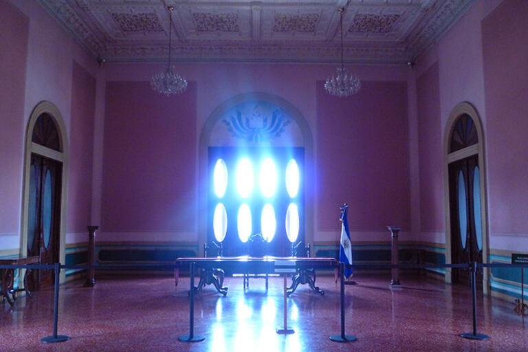 El Salvador's Supreme Court chamber in the Palacio Nacional