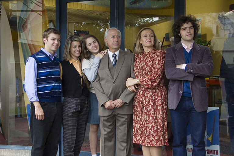 The six members of the protagonist family from The Clan film
