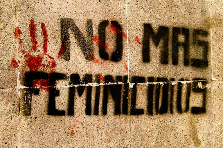 Graffiti against Mexico's femicides