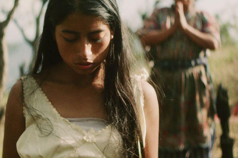 """Photo of a young girl. Still from """"Ixcanul."""""""