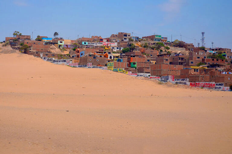 Picture of Lurín, Peru; sand dune and houses