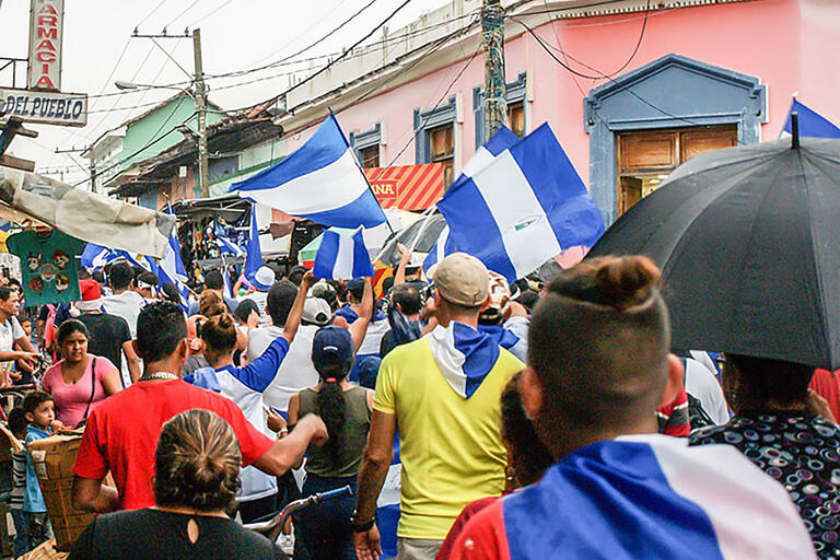A protest in Granada, Nicaragua, May 2018. (Photo by Julio Vannini.)