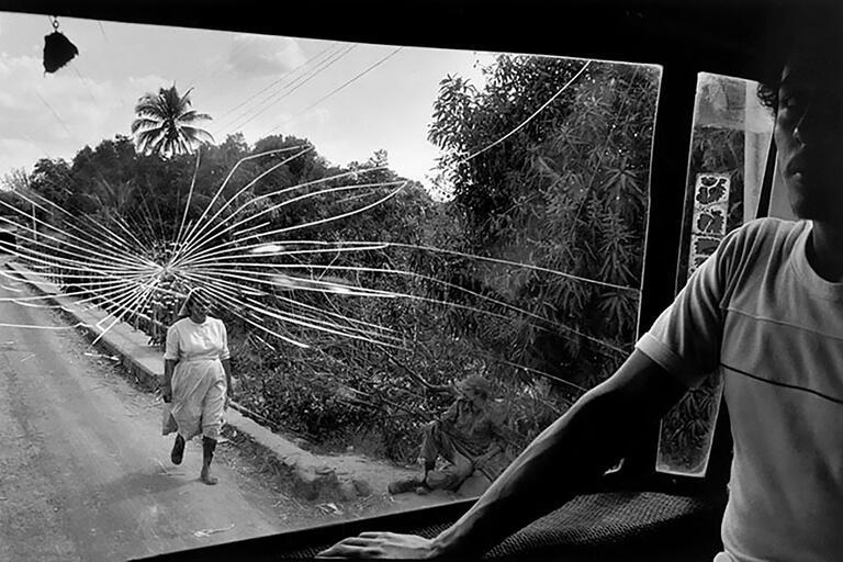 """Susan Meiselas, """"Road to Aguilares,"""" El Salvador, 1983; © Susan Meiselas/Magnum Photos."""