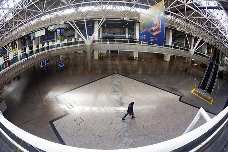 Brasilia's empty international airport, April 2020