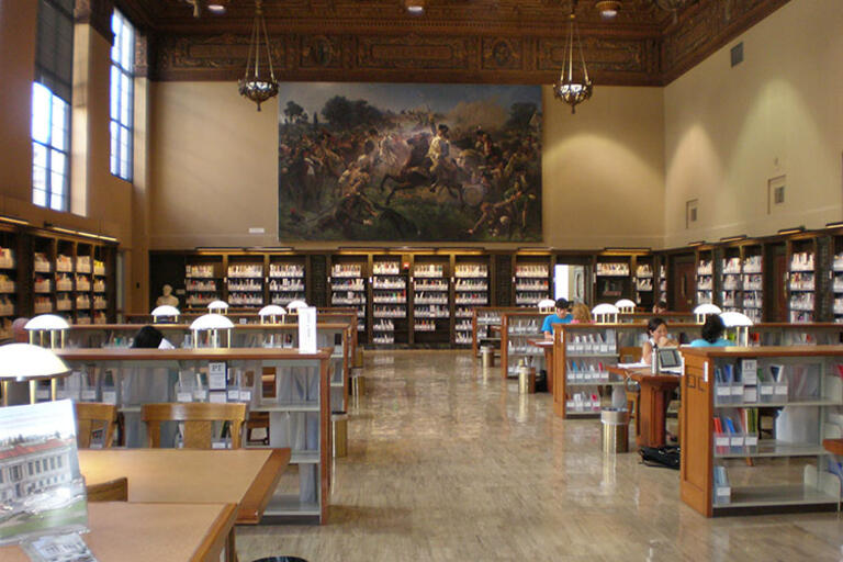 Picture of the Heyns Reading Room in the UC Berkeley library