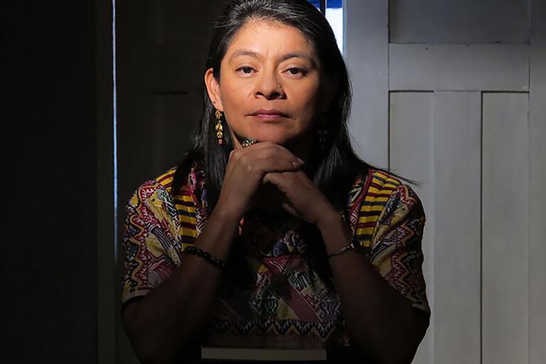 Irma Alicia Velásquez Nimatuj. (Photo by Mello van Essen.)
