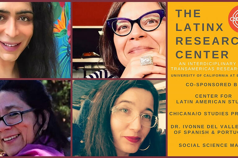"""Promotion image for """"Decolonizing Epistemology"""" event, featuring the main speakers. (Image courtesy of The Latinx Research Center.)"""