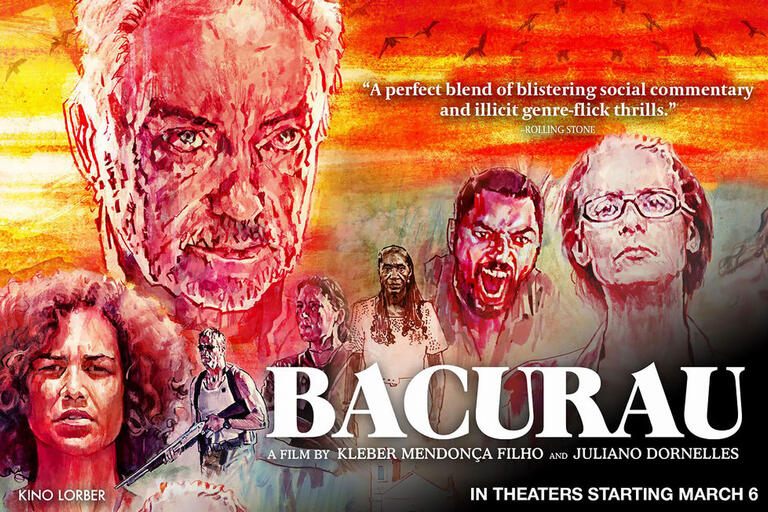 Part of the poster for the film Bacurau. (Image courtesy of Kino Lorber.)