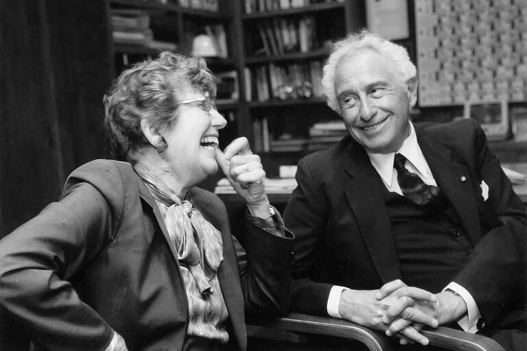 Stan and Iris Ovshinsky. (Photo courtesy of The Ovshinsky Family and the Bentley Library.)