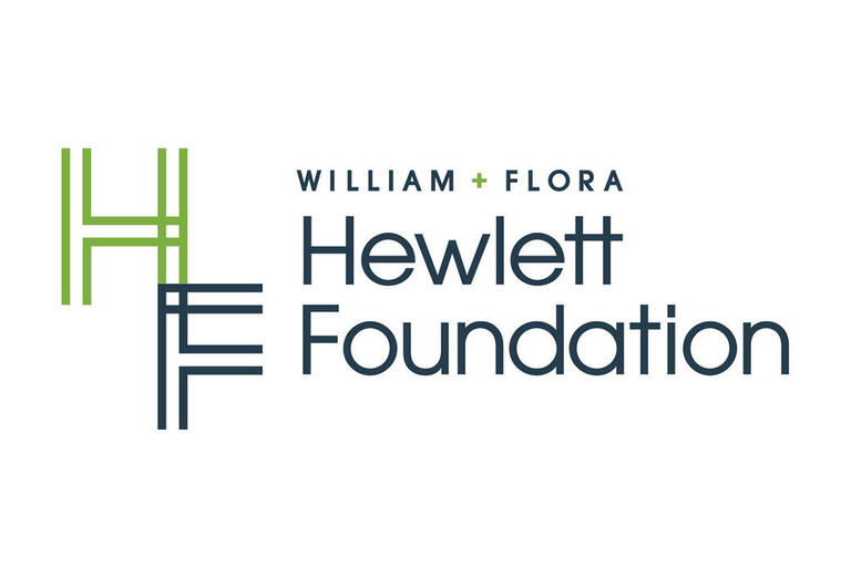 Letters H & F in front of the words Willian + Flora Hewlett Foundation
