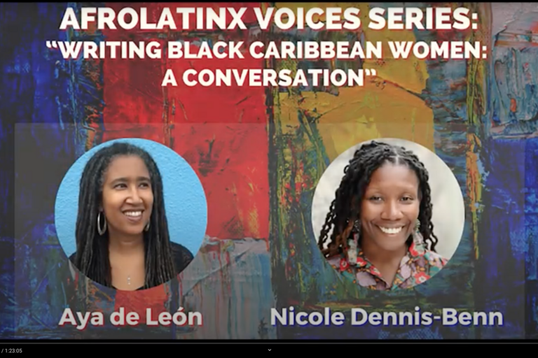 Poster for AfroLatinx Voices Series