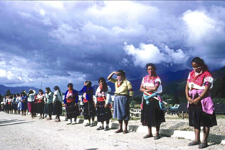 Women standing in a line.