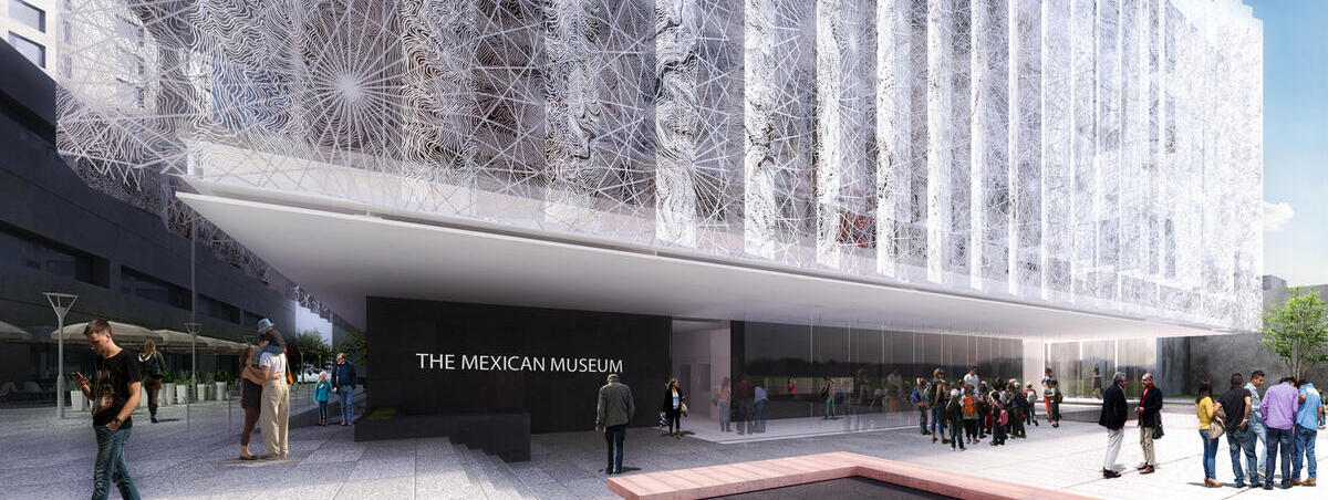 An architect's image of the future Mexican Museum in downtown San Francisco.