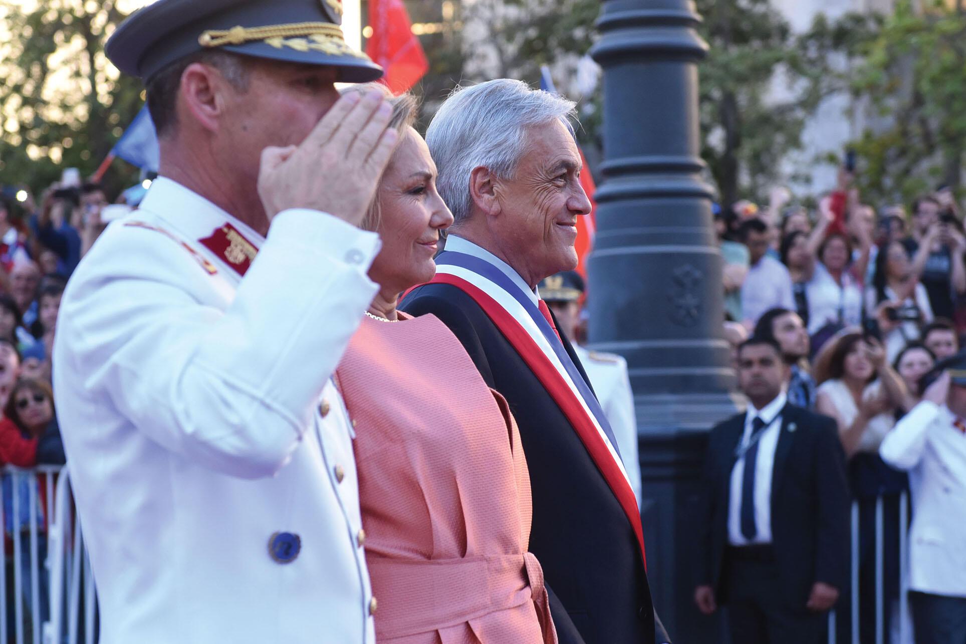 Sebastian Piñera takes office as President of Chile, January 2018. (Photo by Ministerio Secretaría General de Gobierno.)
