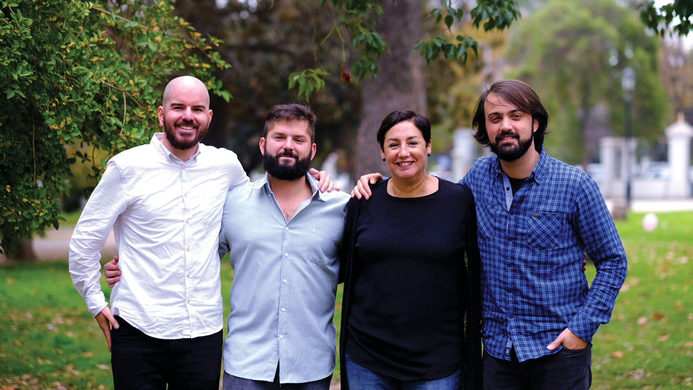 Giorgio Jackson, Gabriel Boric, Beatriz Sánchez, and Jorge Sharp, candidates for office in 2017. (Photo by Fernando Ramírez.)