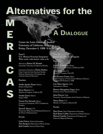 Alternatives for the Americas 1998 poster. (Image from CLAS.)