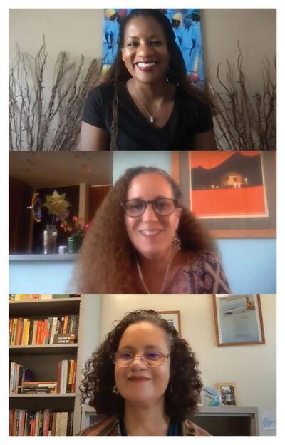 Erika Edwards, Isar Godreau, and Patricia de Santana Pinho.  (Image by CLAS.)